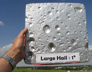 Hail pad graphic